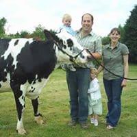 Mawley Town Farm, family. Adrian, Rachel Sophia & Samuel Robinson.