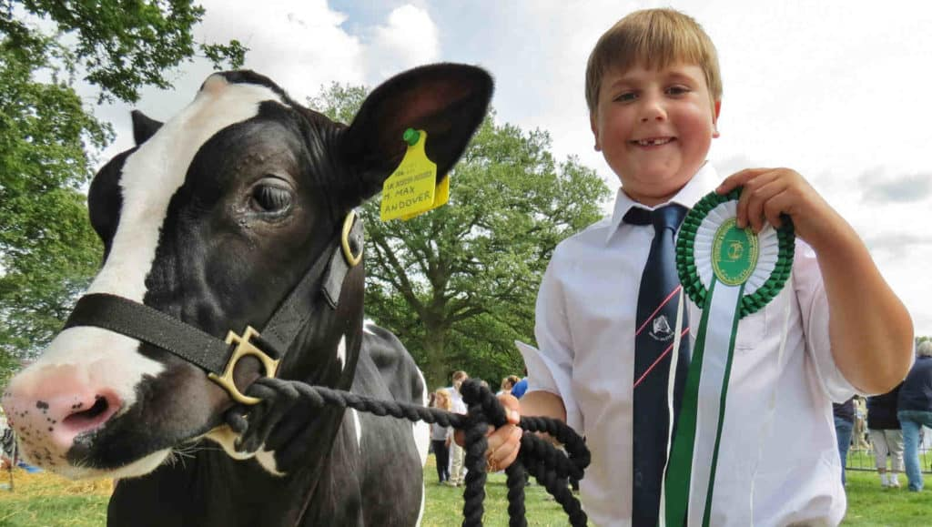 Mawley Cows on show. Mawley milk, we supply shops and cafes across South Shropshire and Worcestershire