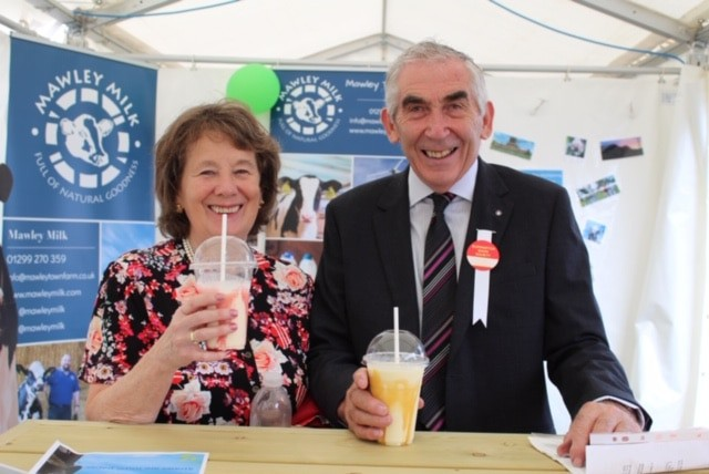 David and Margaret at Burwarton Show